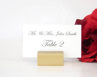 Wedding Place Card Holder - Gold Place Card Holders - Gold Wedding Place Card Holder (Set of 100)