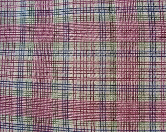 Vintage Fabric Plaid Burberry Style 60 x 3 yds