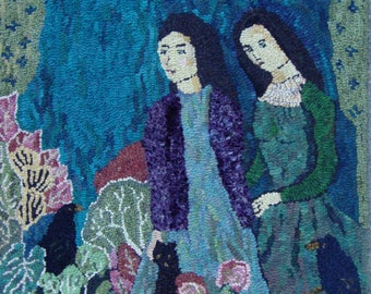 Hooked Rug from a painting by Ann Wiley