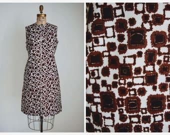 1960s Atomic Print Dress | Vintage 60s Sheath Dress