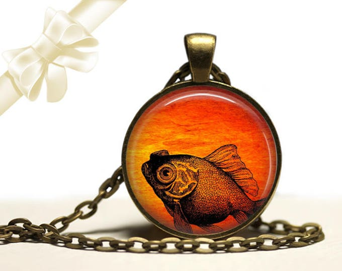 Goldfish Necklace brass Pendant Necklace Free Shipping Gifts for her