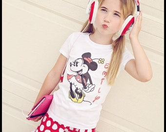 Minnie Mouse shirt personalized with name or saying