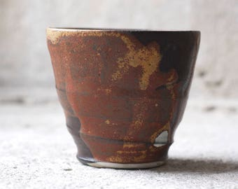 russet stoneware yunomi