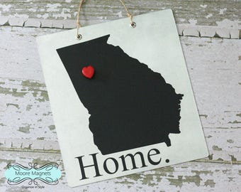 Georgia Home Sign Magnet board with Chalkboard State and Red Heart Magnet