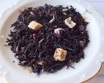 Chocolate Dipped Strawberry, Black, Loose Leaf Tea, Iced Tea, Strawberry tea, Wedding Favor, Tea Party Favor, Shower Favor