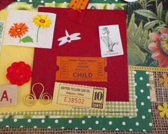 Vintage New Bright Floral Ephemera Inspiration Planner Scrapbooking Kit 25 + Pieces
