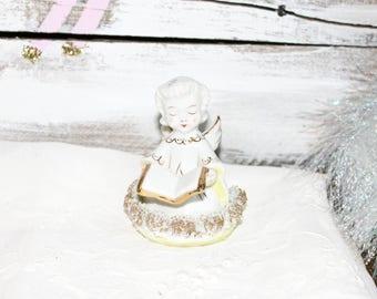 Blume Japan Porcelain Doll Angel Spaghetti Trim Vintage