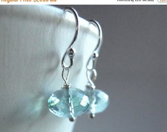 QUICKIE SALE 15% OFF, Sky Blue Earrings, Sky Blue Sparklers, Light Blue Earrings, Sparkly Earrings, Gemstone Earring, Dangle Earrings