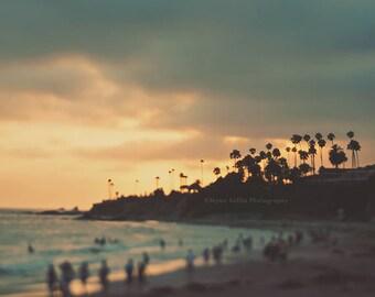 Laguna Beach art print, beach sunset photo, California photography, beach photograph, girls room wall art, yoga decor, seaside print