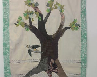 Spring tree applique banner/wallhanging