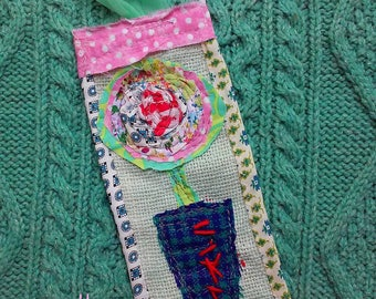 Rustic Rose Funky Bookmark YelliKelli Ready to Ship