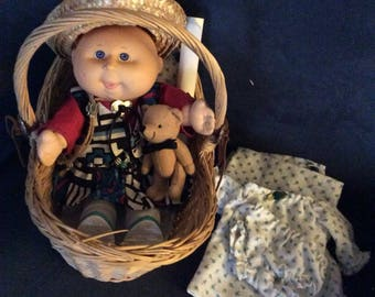 """12"""" reborn canbage patch doll."""