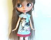 """Lightbleu Handmade Romantic  Dress """"Kitty"""" for Blythe"""