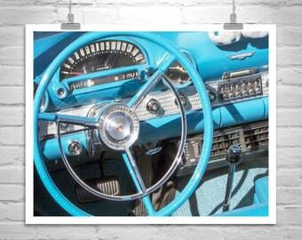 Mid Century Wall Art, Ford Thunderbird, Car Picture, T-Bird, Gift, Automobile Art, Automotive Art, T Bird, Canvas Photograph, Gift