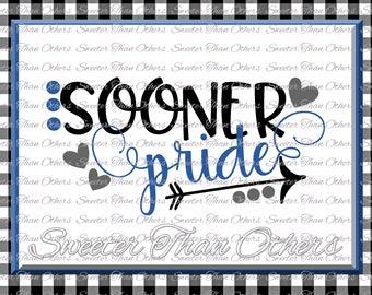 Sooner Pride Svg, Football Sooner, Baseball Sooner, Basketball Sooner, Vinyl Design SVG DXF Silhouette Cameo Cricut Instant Download