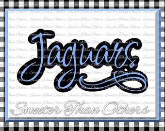 Jaguars Svg, Football Jaguar, Baseball Jaguar, Basketball Jaguar, Vinyl Design SVG DXF Silhouette Cameo Cricut Instant Download