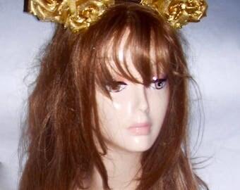 Mardi Gras Headdress#Gold Headdress#Mardi Gras 2018#Gold Headband#Made in USA#Made in NYC#OOTD#Mardi Gras Headpiece