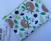 Reusable Snack Bag - Sloth -Kids Zippered Snack Bag - Lunch Pouch - Snack Bag - Lunch Bag - Snack Sack