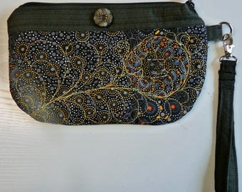 Wristlet Purse, Quilted, 4 different colors and designs