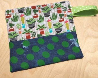 Knitting Project Bag - Crochet Project Bag - WIP - Yarn Keeper - Sock Bag - Everything Bag - Anything Bag - Zipped Tote