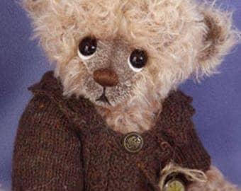 AUSTIN - One of A Kind Artist Bear, Collectable Mohair Bear, by Valewood Bears