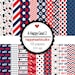 DigitalScrapbooking AHappyGrad2 graduation, school, red, navy - InstantDownload