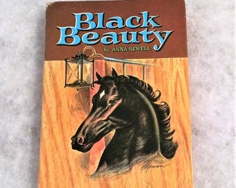 1950s Vintage Black Beauty Book by Anna Sewell 1955 Printing Hardcover