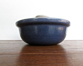 Edith Heath Pottery of California, Heath Lidded Casserole in Blue Granite, American Modern Design
