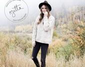 Knitting Pattern - Chunky Knit Sweater, Easy Knitting Pattern, Knit Sweater Pattern - The Cabin Sweater