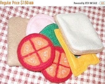 SALE Play food  felt sandwich pretend felt food, Whats for lunch #PF2501