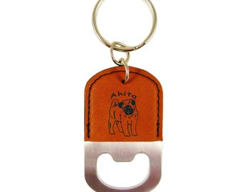 Akita Puppy Bottle Opener Keychain K1180 - Free Shipping
