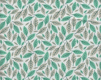 Moda Fabrics Big Sky Leaf in Azure - Half Yard