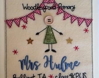 Whole Class Thankyou 'Brilliant TA' Card - Personalised