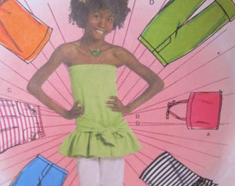 New/Uncut - Butterick Fast & Easy B5023 - Girls Plus - Summer Coordinates