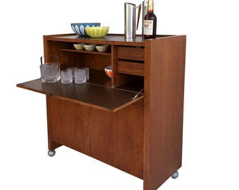Mid Century Modern Dry Bar Cabinet by Founders Free Shipping