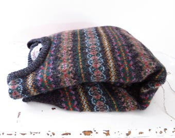 Vintage Shetland Sweater   Vintage 80s Shetland Wool Fair Isle English Pull Over Sweater Mens L 42