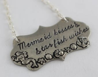 Mermaid Necklace - Summer Charm Necklace - Summer Beach Jewelry - Vacation Necklace - Cruise Jewelry - Mer Maid Necklace - Shell Jewelry