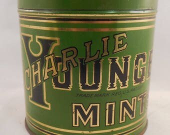 Charlie Younger Vintage Mint Candy Tin