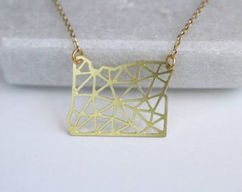 Oregon Geometric Necklace | Small | ATL-N-188