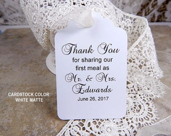 Wedding favor tags | Etsy