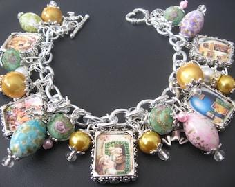 Easter Bracelet, Easter Jewelry, Rabbit Bracelet, Rabbit Jewelry, Easter Egg Bracelet, Bunny Jewelry