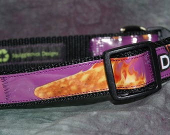 Adjustable Dog Collar from Recycled Dorito's Spicy Sweet Chili Chip Bags