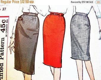SALE 25% Off Vintage 1950s Skirt Pattern, Misses Waist 27, UNCUT, Simplicity Pattern, Womens Wiggle Skirt Pattern, Easy to Sew Pattern