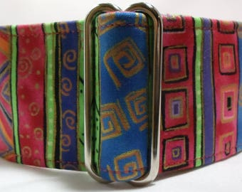 Neon Jungle Greyhound, Whippet, Dog, Pit Bull, Doberman, Galgo Martingale Collar