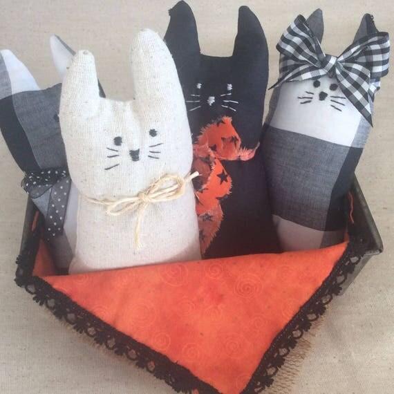 "Kitty Kitty Softie Toy and Blanket PDF Pattern - 6"" Tall Kitten"