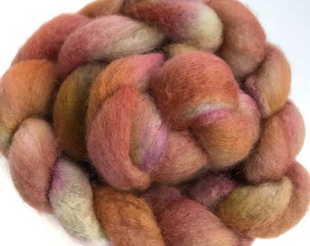 "BFL wool top, hand dyed, top, roving, ""A Field Afar""', 4.0 oz."
