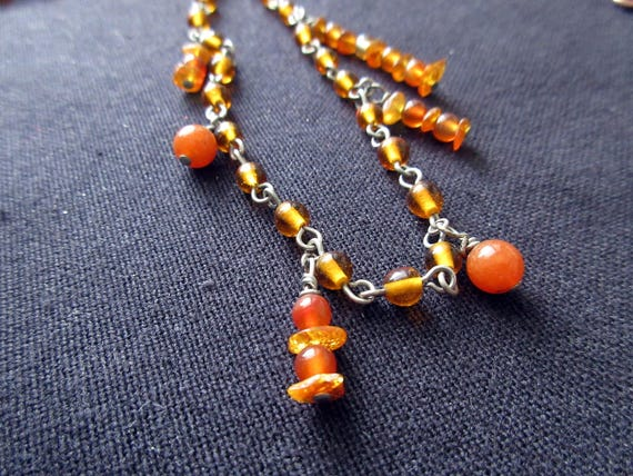 Amber Pi Necklace Fall Sciart Jewelry Math Nerds