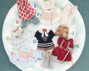 Jiajia Doll miniature arts doll clothes collection 1 for petite blythe middie blythe obitsu 11 ob11 lati white pukipuki