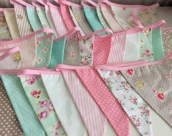 Extra Long Pastel Bunting / fabric garland / banner - 25ft Long, weddings, parties, decoration
