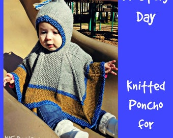 Blustery Day Knitted Baby Poncho Pattern Instant Download